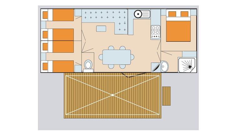 mobilheim laguna comfort adriatische k ste italien pra delle torri. Black Bedroom Furniture Sets. Home Design Ideas