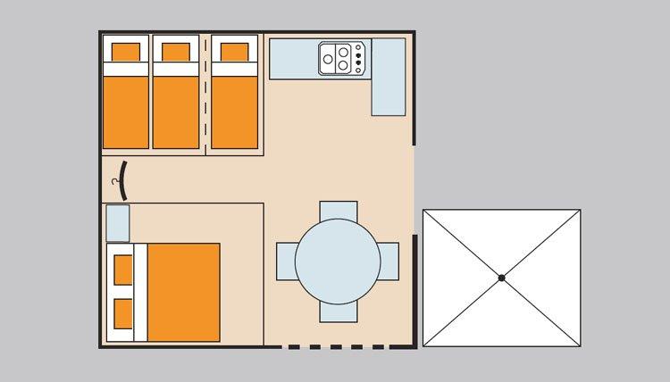 bungalowzelt gusto adriatische k ste italien sant angelo. Black Bedroom Furniture Sets. Home Design Ideas