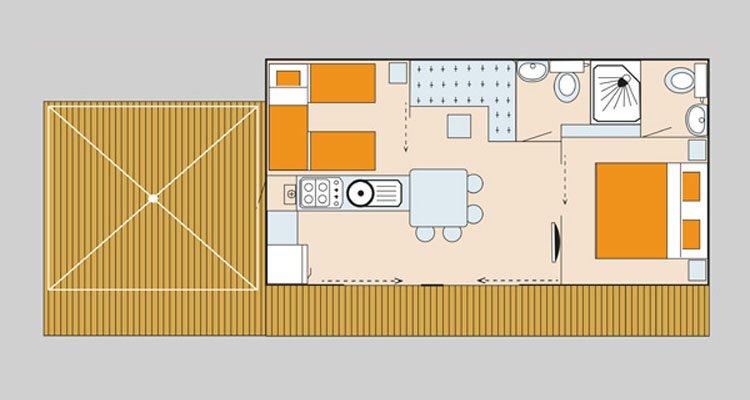 mobilheim lounge deluxe adriatische k ste italien union lido. Black Bedroom Furniture Sets. Home Design Ideas