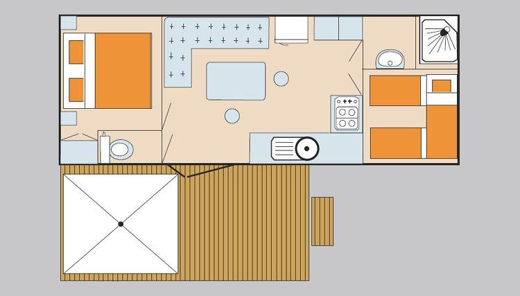 mobilheim sunset adriatische k ste italien sant angelo. Black Bedroom Furniture Sets. Home Design Ideas