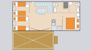 mobilheim superior deluxe adriatische k ste italien pra delle torri. Black Bedroom Furniture Sets. Home Design Ideas