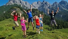 Oostenrijk, Salzburgerland - kids in de bergen