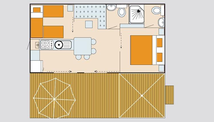 mobilheim lounge deluxe xl adriatische k ste italien pra delle torri. Black Bedroom Furniture Sets. Home Design Ideas