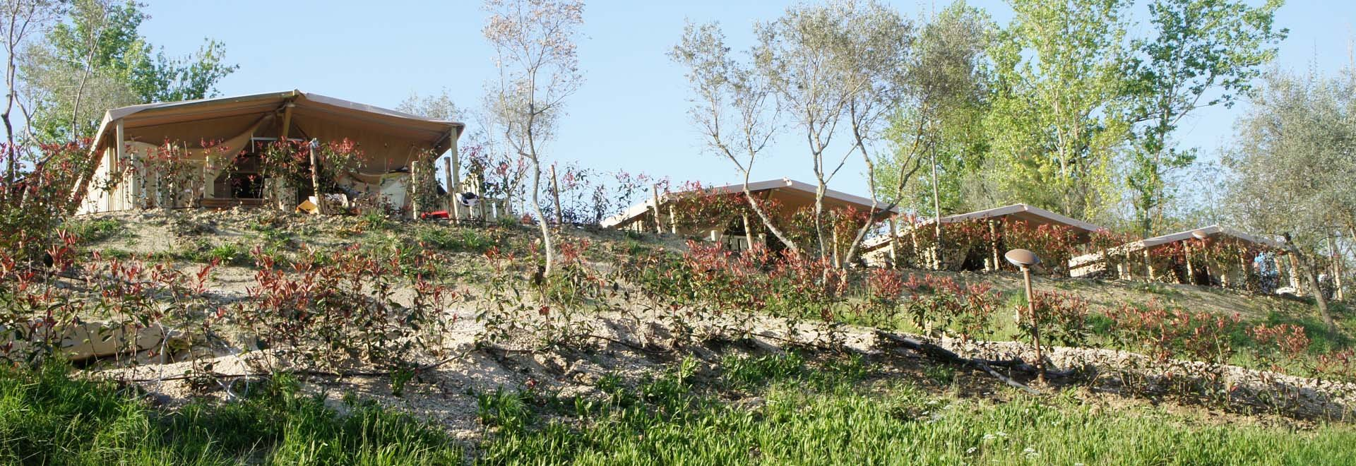 Luxe Tenten Banner Foto Norcenni Girasole Club