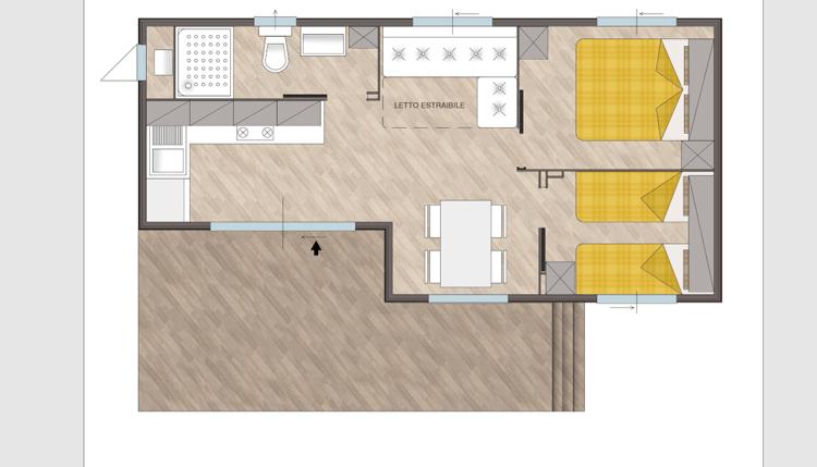 mobilheim solare adriatische k ste italien pra delle torri. Black Bedroom Furniture Sets. Home Design Ideas